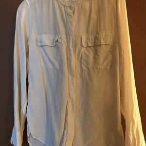 Tops - Equipment silk white blouse size small